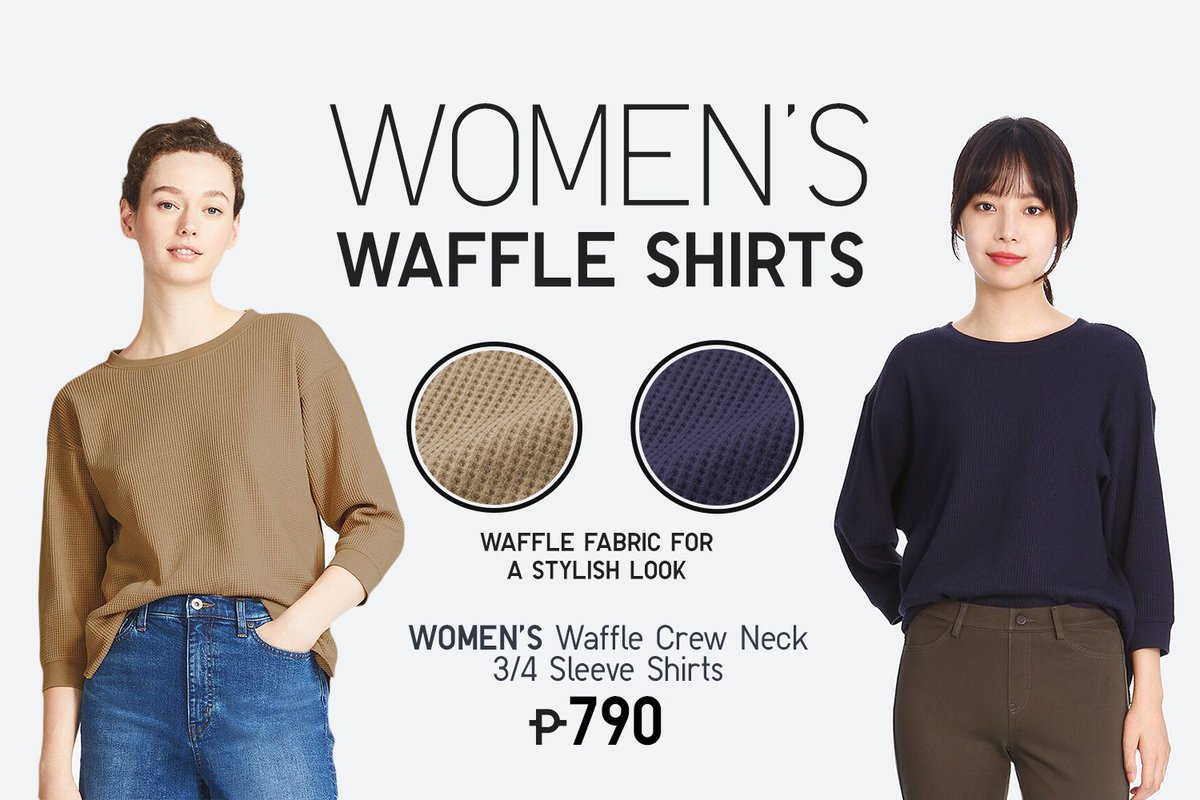 3d0c71f37f51 Your casual wear made to look more stylish and effortless than ever—our Women's  Waffle Crew Neck 3/4 Sleeve T-Shirts are the answer.