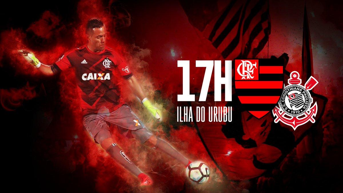 Hoje tem Flamengo! Hoje tem #FLAxCOR na Ilha do Urubu, 17h! Vamos buscar essa vitória!!! #PosterRN #VAMOSFLAMENGO