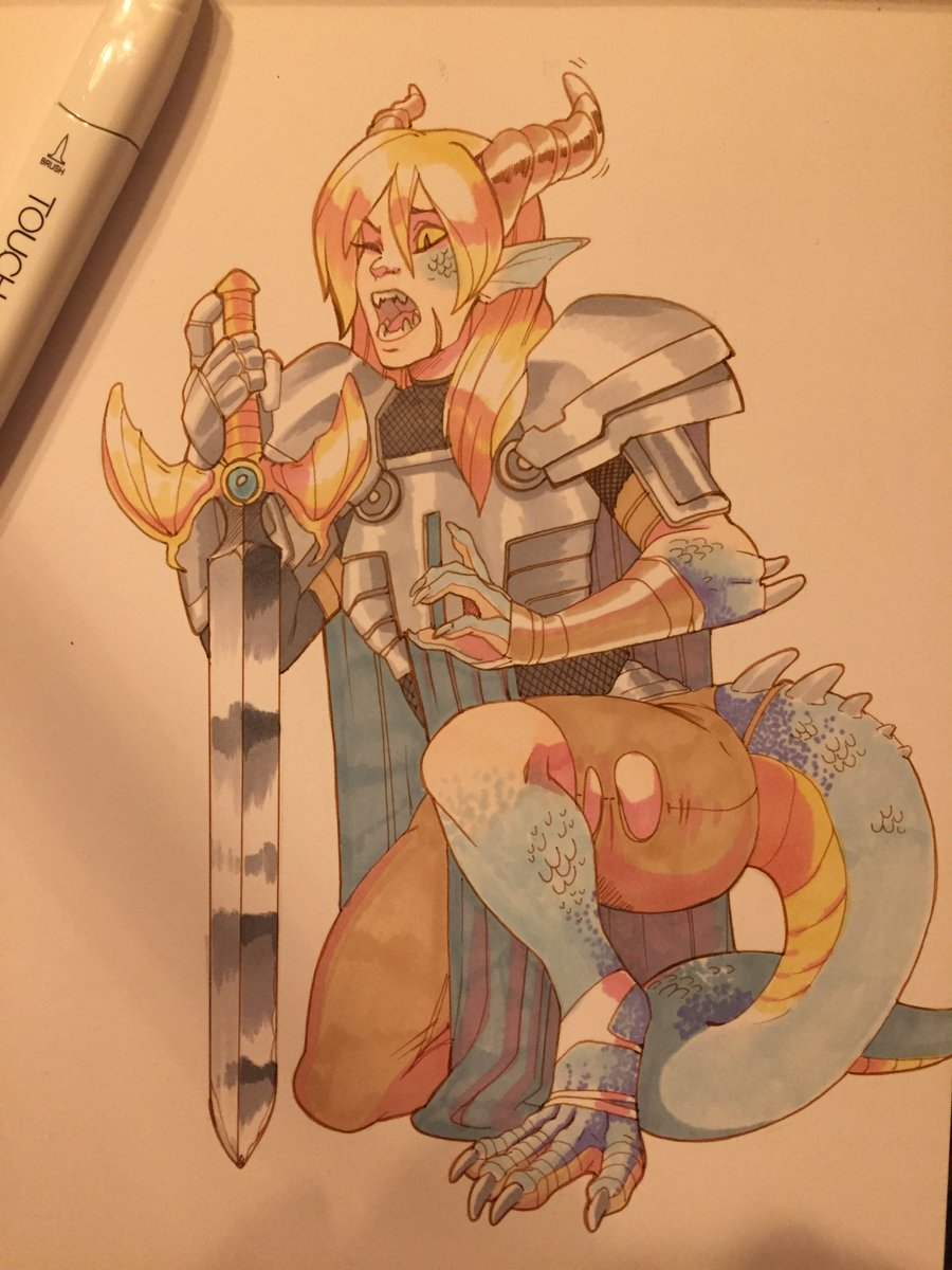Angrboda On Twitter Finally Finished The Dragon Knight Tf