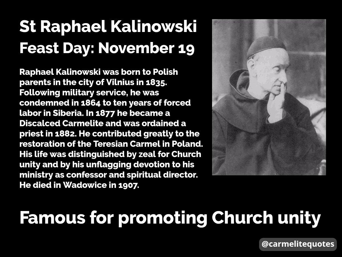 Saint Raphael of St. Joseph, pray for us! #FeastDay #19november  #carmelite #saint <br>http://pic.twitter.com/LtkyH3HDtu
