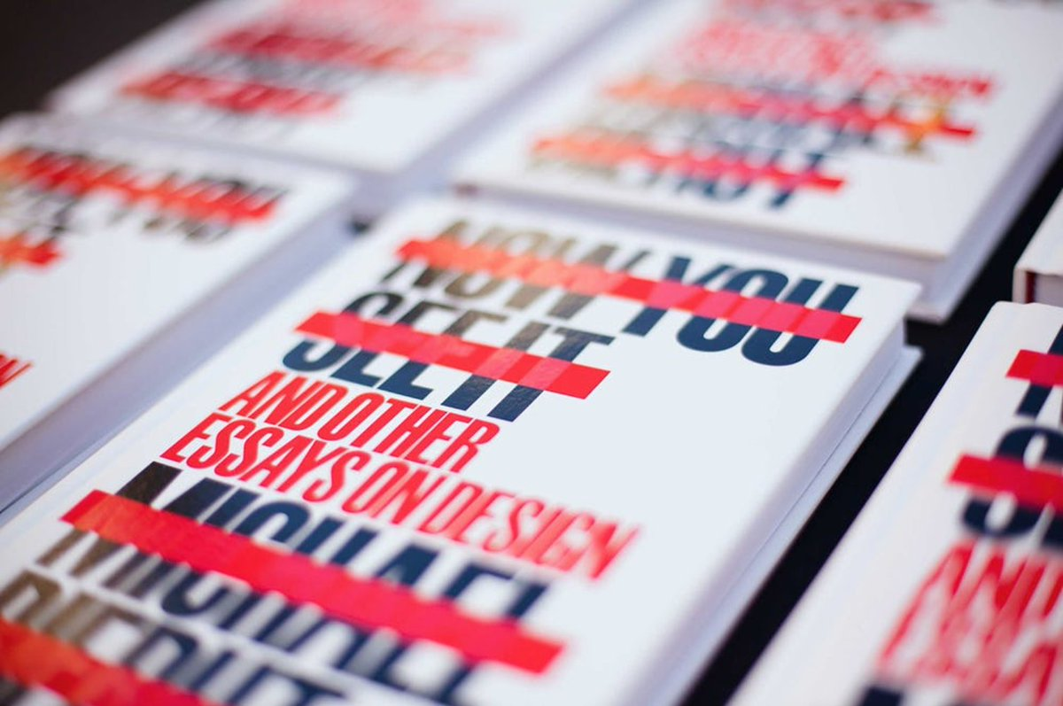 michael bierut on finally out today from papress now  michael bierut on finally out today from papress now you see it and other essays on design t co zpeiqmuofg