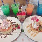 #エビ中CAFE のフードコンプリート☺️✨わーーーー(*'ω'*)✨✨女子スタッフ5人で食べきりま…