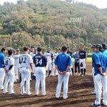 試合後には、金子コーチ、近藤選手、松本選手、堀選手による侍ジャパンへの決意表明がありました。#lov…