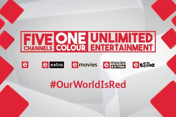 The e family of channels is now one colour - RED. Be a part of it! #OurWorldIsRed https://t.co/lL0hchARts https://t.co/Pv1kr6oJSR