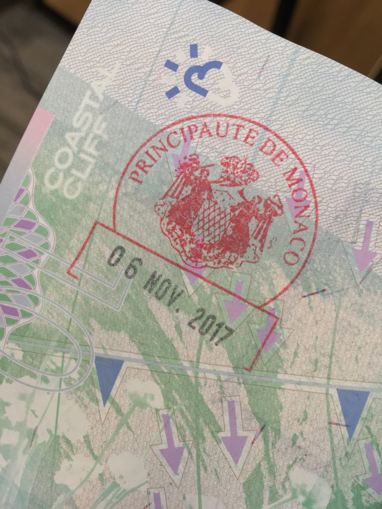My #Monaco passport stamp. Nice to actually be able to get any kind of passport stamp these days #travel #MonteCarlo<br>http://pic.twitter.com/UhbViBNdVA