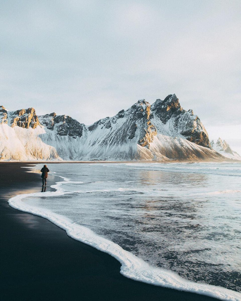 Black sand beaches in Iceland 🖤
