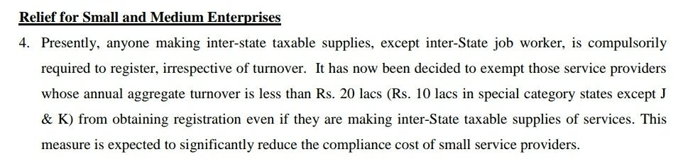 No GST Registation required if turnover less than 20lakhs.