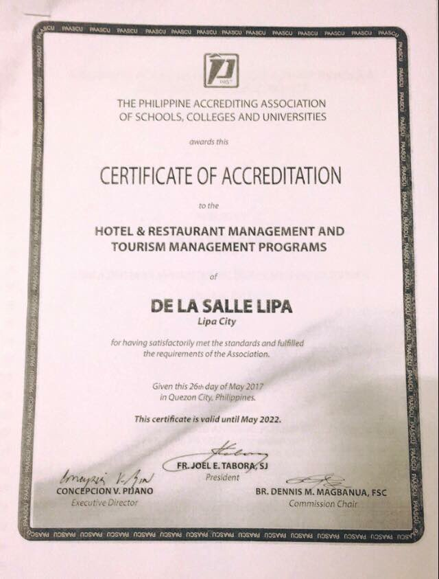 De La Salle Lipa On Twitter Paascu Recently Awarded Dlsls Hrm And