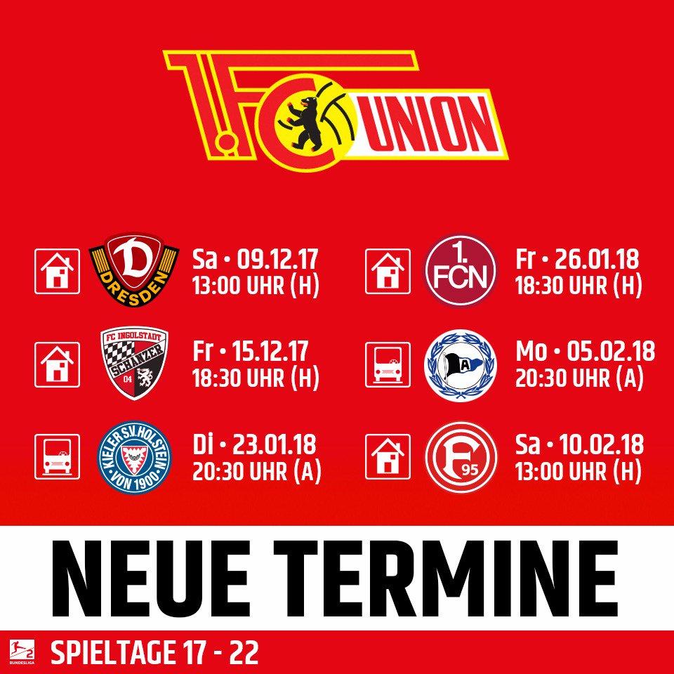1 Fc Union Berlin On Twitter Die Neuen Termine Sind Da Flutlicht