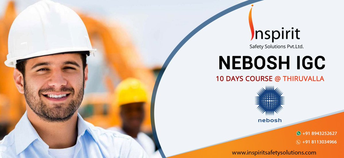 nebosh inspection Nebosh international general certificate in occupational health and safety about the course nebosh international general certificate is a globally recognized health and safety qualification intended for companies or individuals working to international standards with regards to.
