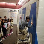 Carlos Diaz, first grader at MB, signed the GOALS wall for meeting his end of the year math goal.  Way to go, Carlos!