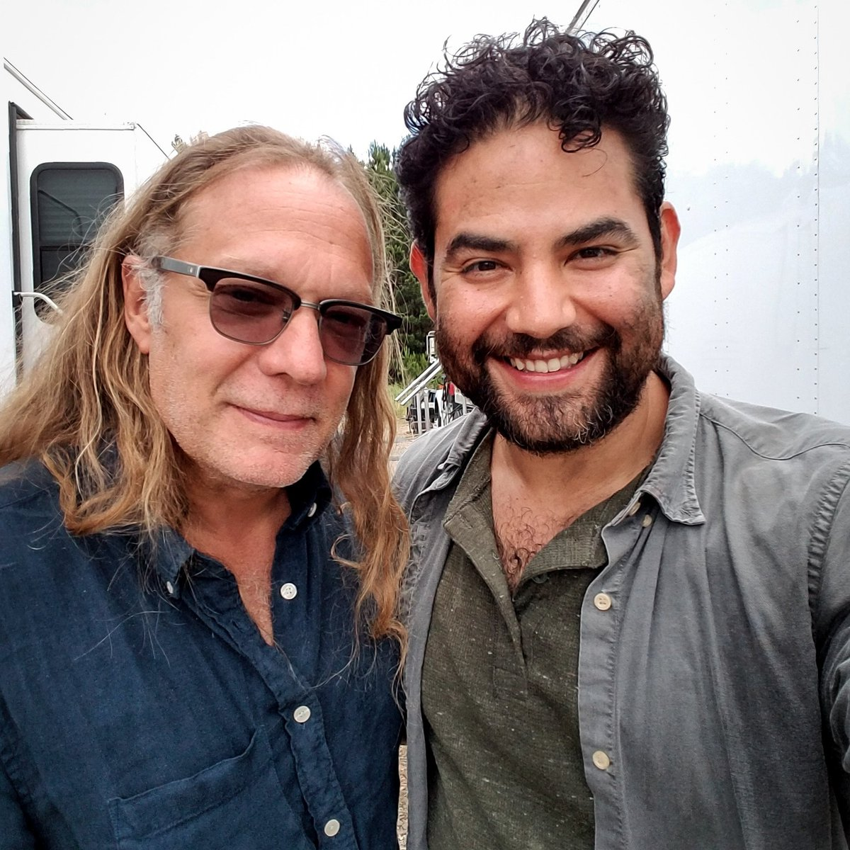 The man himself! Great to see you again @G_Nicotero and glad that you were at the helm for the big #Morales return. #TheWalkingDead  #TWD  #twdseason8 #Morales #MoralesLived  #amc #pr #publicity #actor #actorlife<br>http://pic.twitter.com/QX2lj7fUeC