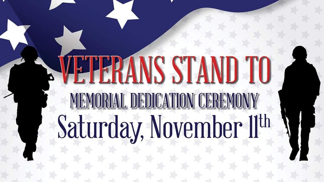 November 11 Woodstock IL Veterans Memorial Dedication Ceremony at @Woodstock_HD