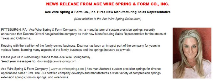 Ace Wire Spring and Form