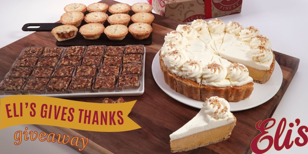 We're #thankful for YOU! Follow Eli's on twitter for your chance to #win a Give Thanks Buffet Tower. (Contest ends 11/13 at 10:30am CST)