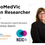 Come along tomorrow to celebrate Monica's @BioMedVic career achievement award. Presentation 12-12.30 Lecture Theatre A, Level 7 @VicCompCancerCr  @PeterMacCC . Lunch 12.30-1.30 Level 7 atrium.