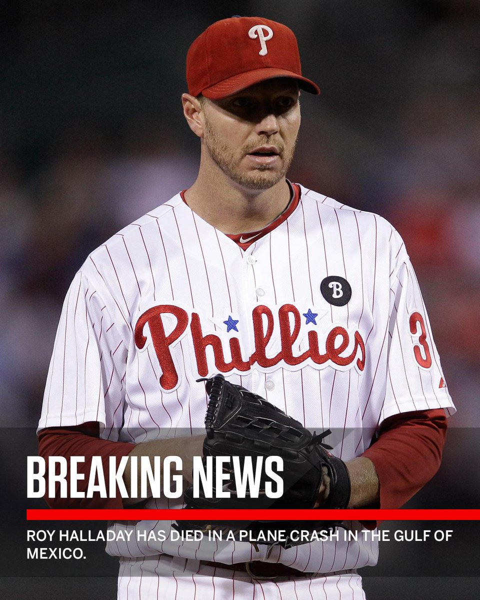 Breaking: Roy Halladay has died in a plane crash in the Gulf of Mexico off Florida. He was 40.
