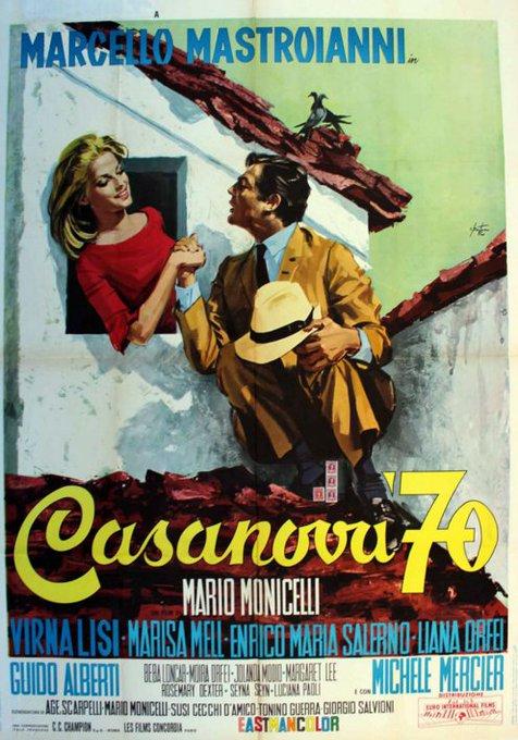Happy Birthday Virna Lisi - CASANOVA 70 - 1965 - Italian release poster