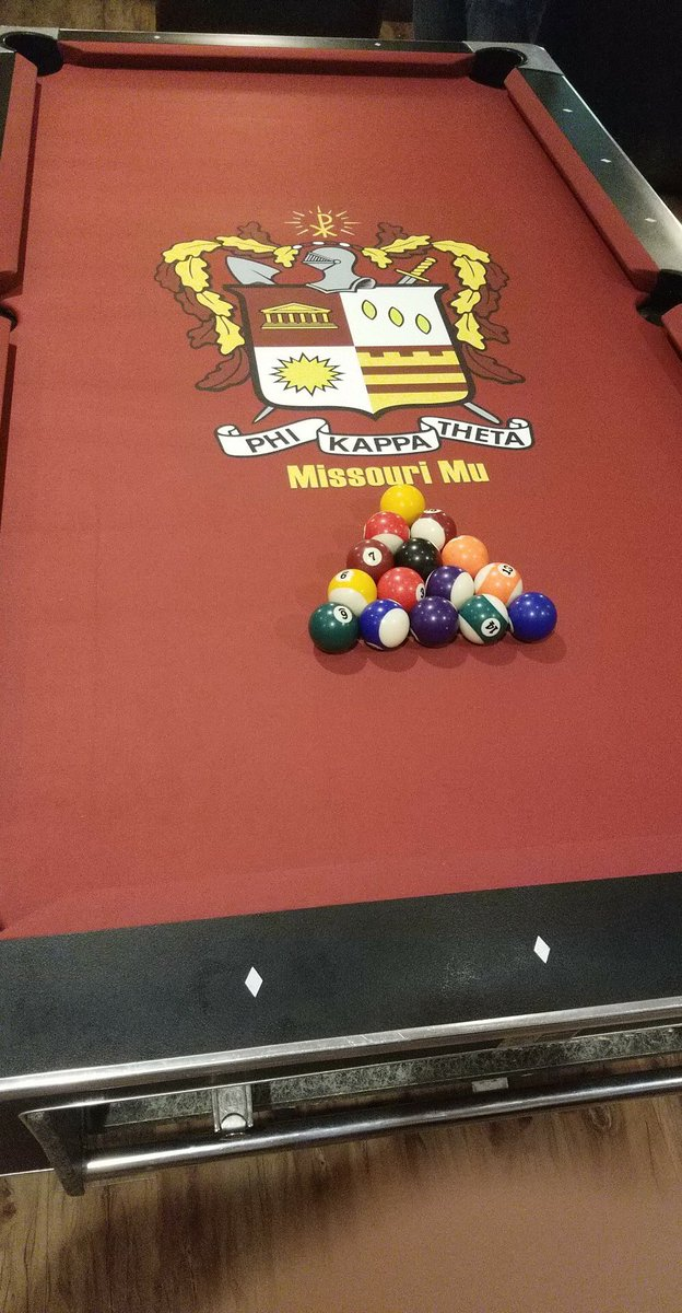Phi Kappa Theta ST On Twitter Phikappatheta Check Out Our - How to put felt on a pool table