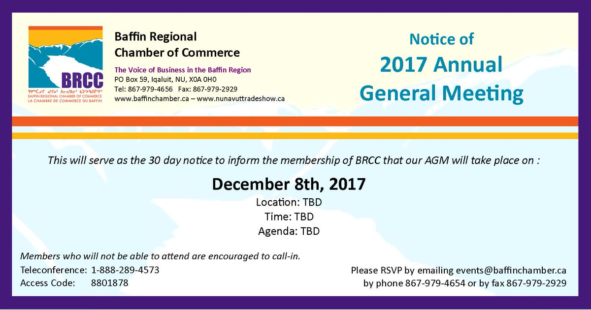 Baffin regional chamber of commerce on twitter the baffin regional baffin regional chamber of commerce on twitter the baffin regional chamber of commerce will be hosting our 2017 annual general meeting on friday altavistaventures Image collections