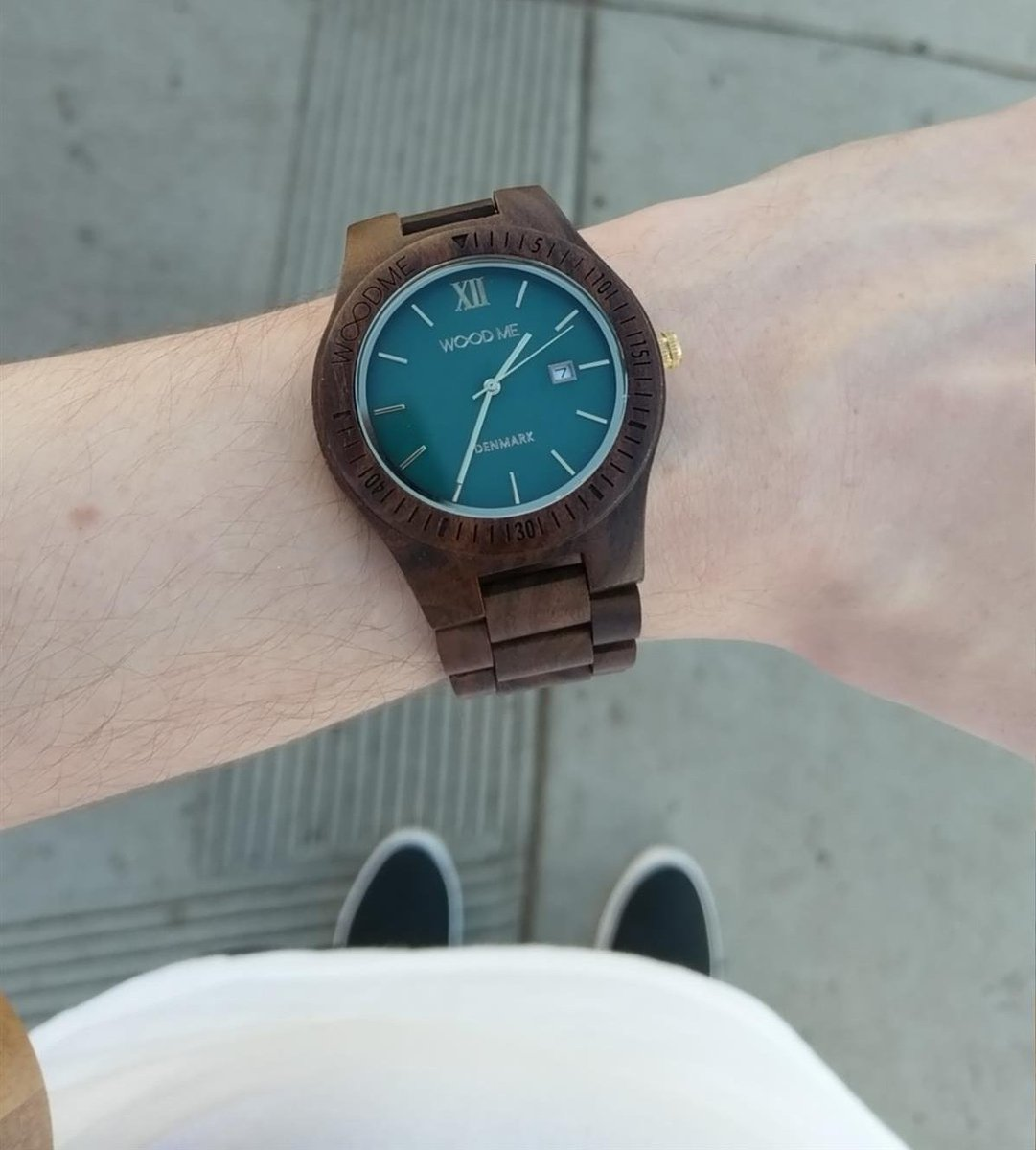 My mama gifted me a cool wooden watch fo...