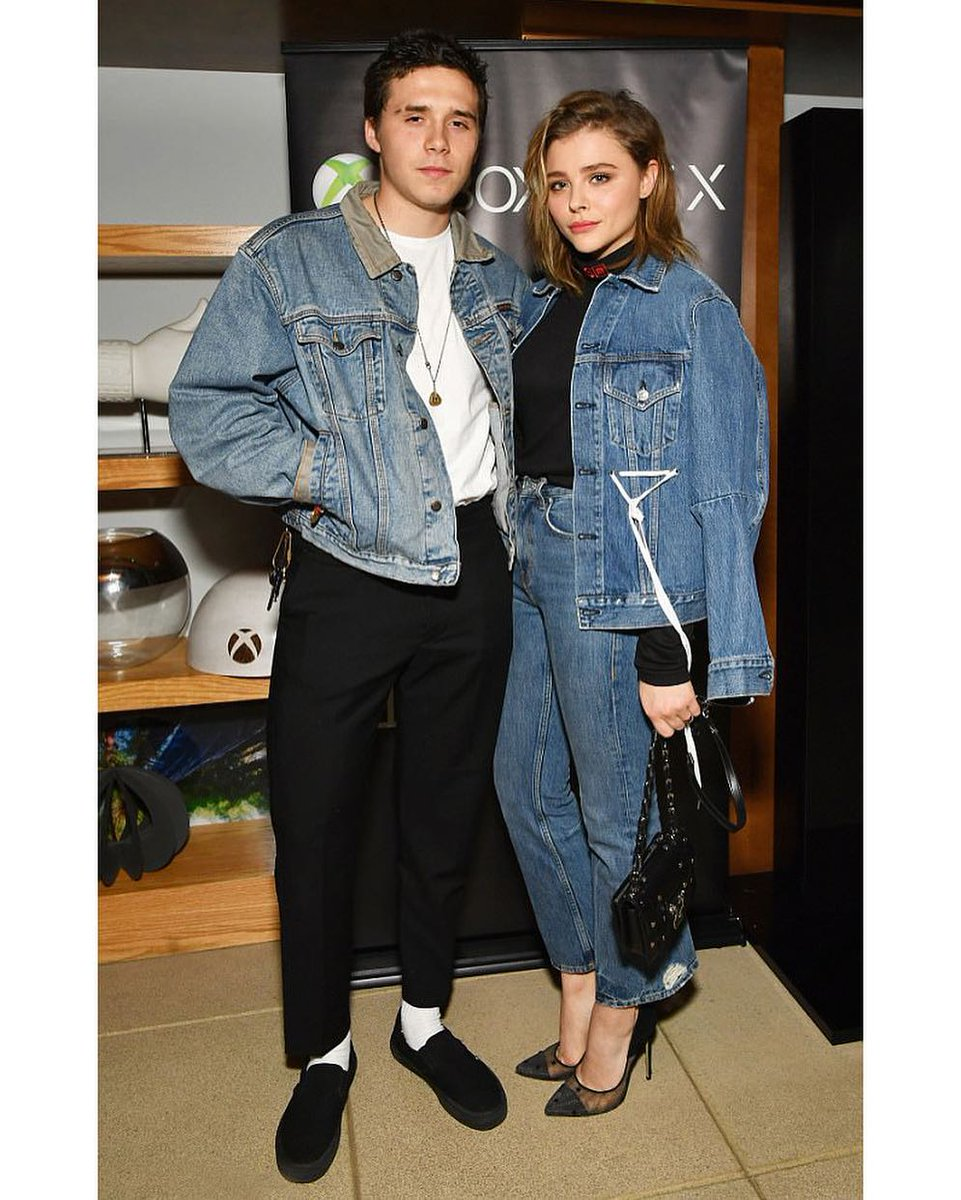 .@ChloeGMoretz in #PSWL Denim Drawstring...
