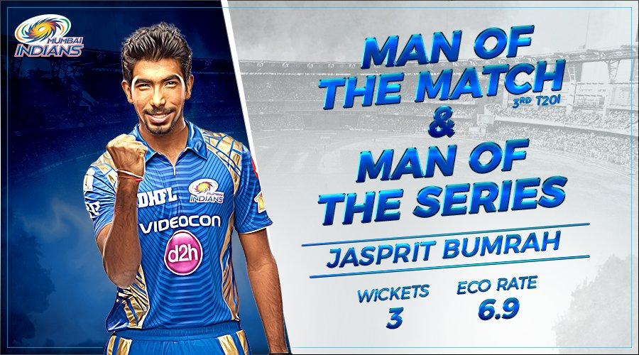 bumrah bowled his heart out in the T20I series against the Kiwis, and won two