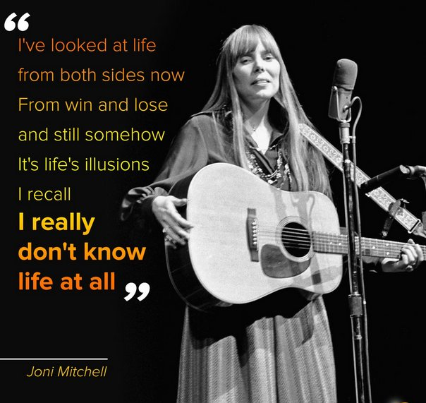 Rolling Stone calls her one of the best song writers ever. Happy Birthday Joni Mitchell.