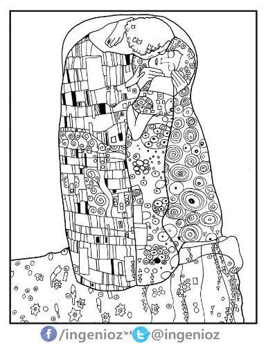Ingenioz On Twitter Nuevos Libros Para Colorear De Klimt