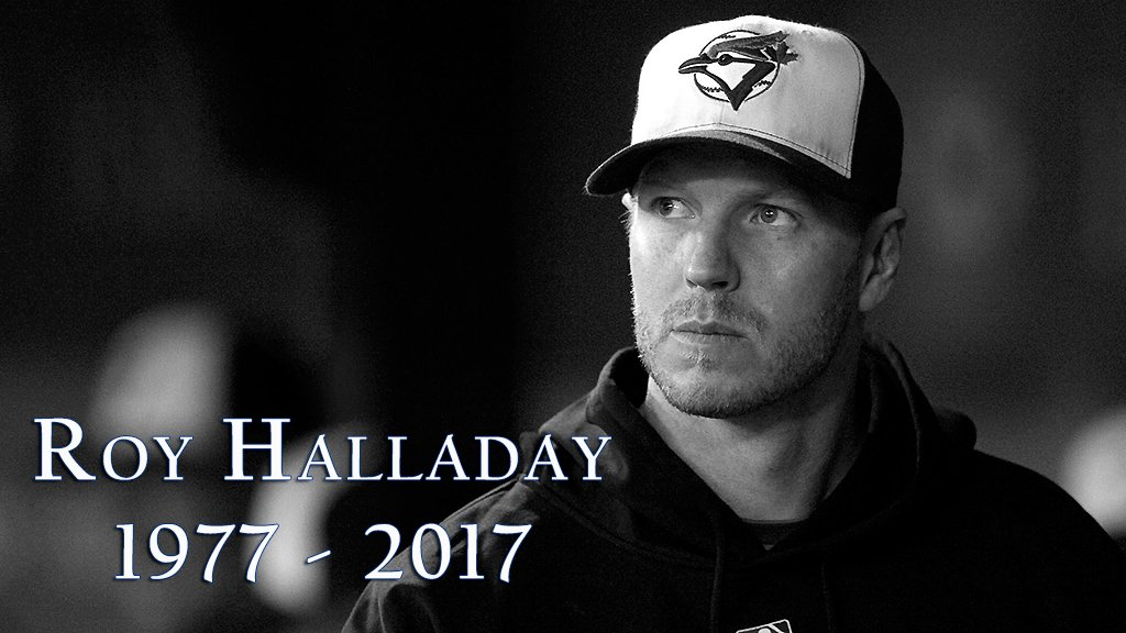 We are saddened by the tragic news that Roy Halladay, 2-time Cy Young Award winner & 8-time All-Star, has died in a plane crash. He was 40.
