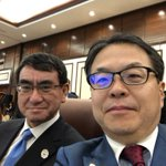 APEC閣僚会議まもなく始まります。@konotarogomame 河野大臣と参加します。 pic.…