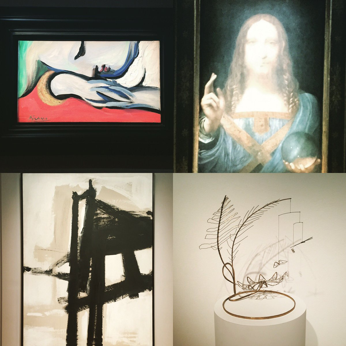 Art at @christiesinc is so spectacular it made me want to go home and wash my car. #davinci #picasso #calder #franzkline #ididnotwashmycar<br>http://pic.twitter.com/viJl83Bidl