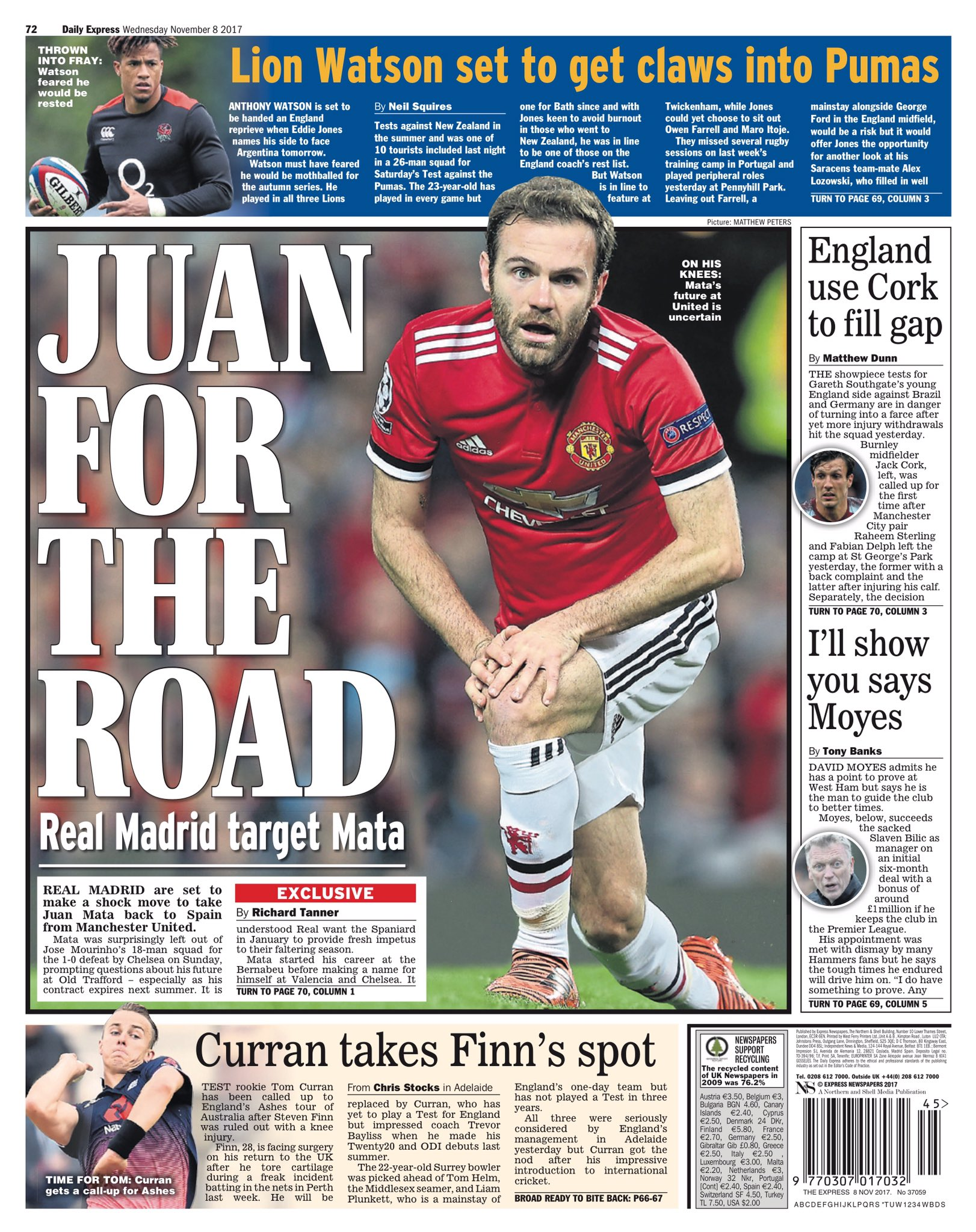 Juan Mata linked with a return to Real Madrid