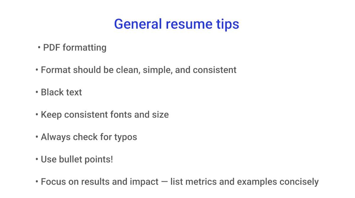 google resume tips
