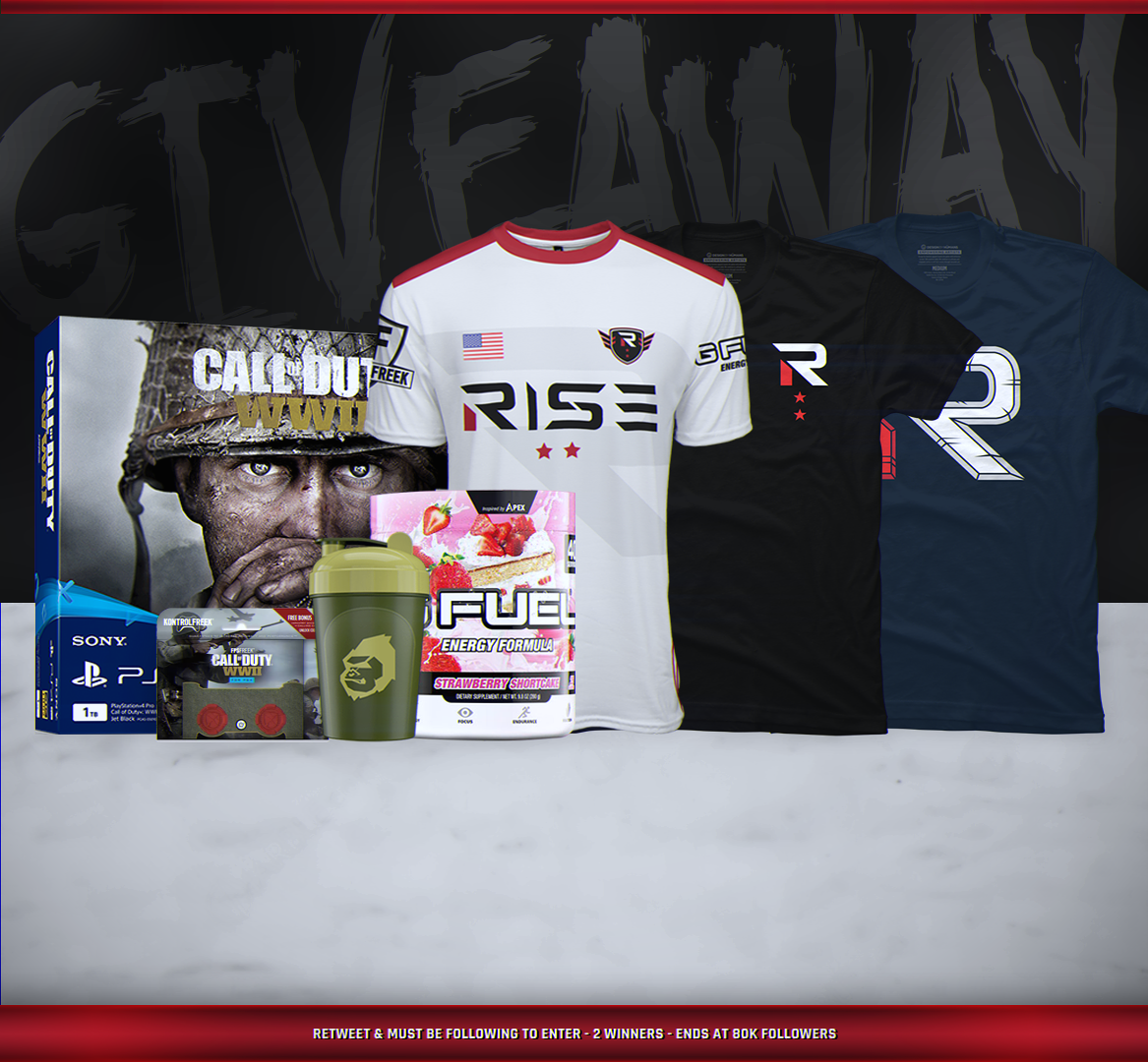 Rise Nation 80K Follower Giveaway!   RT...