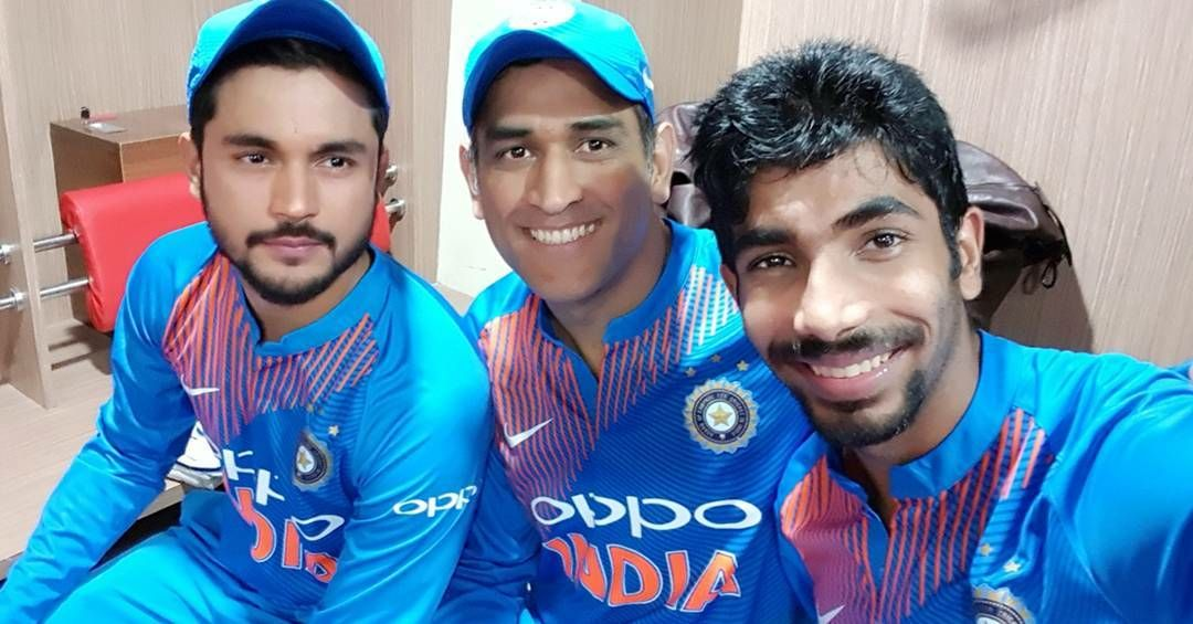 Now a days A  series is incomplete  without a selfie of Bumrah with dhoni