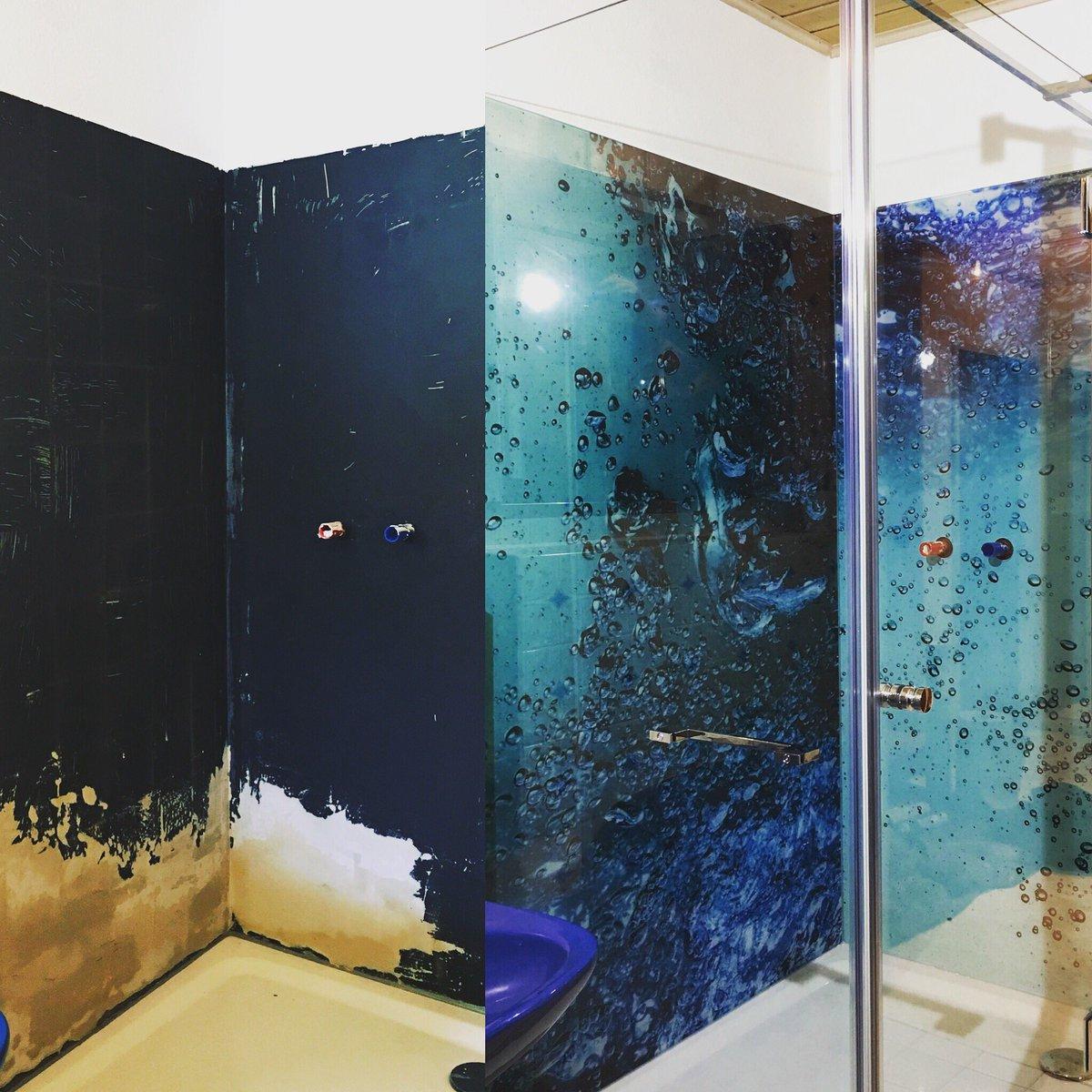 glasdusche ganzglasdusche duschabtrennung glas dusche duschen bad badezimmer wandverkleidung fugenlos glasstattfliesen nofliesenpictwittercom - Dusche Wandverkleidung Aus Glas
