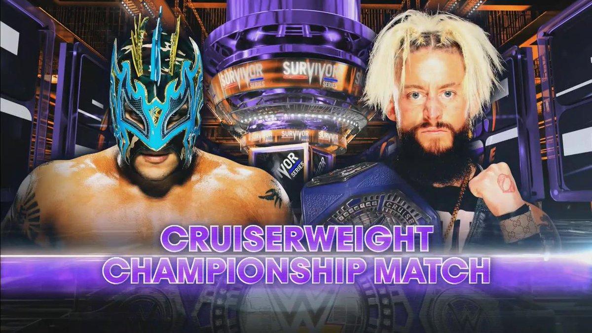 Image result for WWE Survivor Series (2017) CRUISERWEIGHT CHAMPIONSHIP Enzo Amore (c) vs. Kalisto
