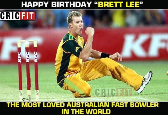Happy Birthday Brett Lee!