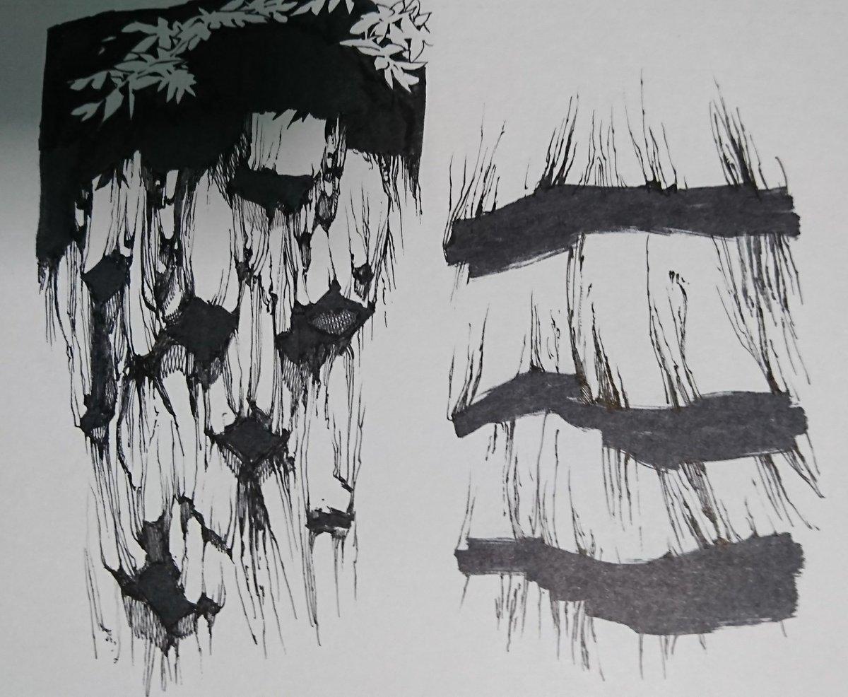 学生の頃は崖とかこんな感じに描いて練習してた