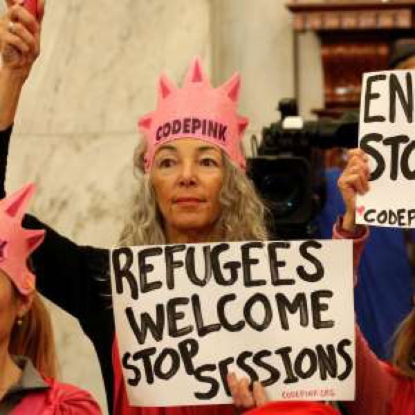 Jeff Sessions&#39; DOJ Drops Prosecution Of Woman Who Laughed At Jeff Sessions #codepink #SessionsHearing #SessionsLies   https:// a.msn.com/r/2/AAuyuGI  &nbsp;  <br>http://pic.twitter.com/lky3Nj5gPE