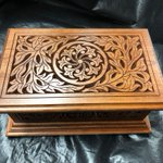 Let's take a moment to appreciate this beautifully carved jewellery box created by one of our awesome forum users. #workshopwonders #VCarvePro #inspired #thanksforsharing https://t.co/Yq1qQxd7Io