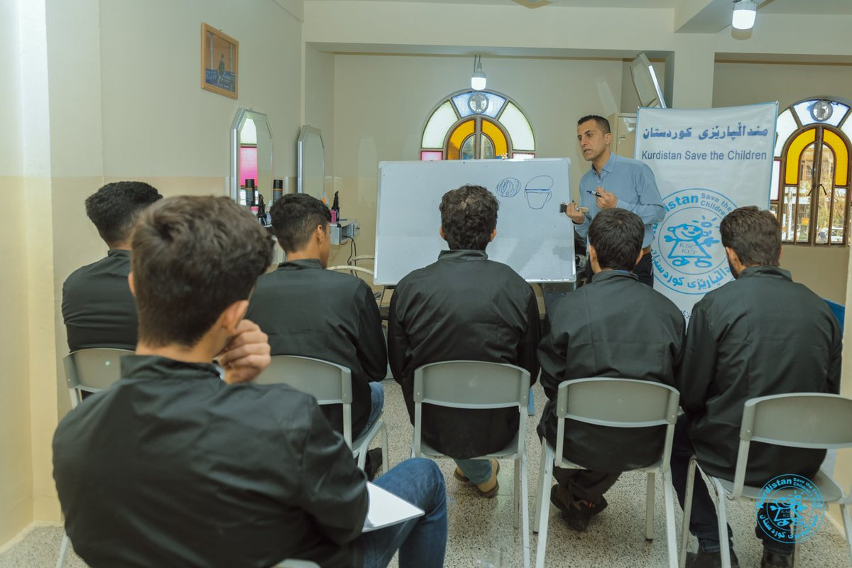 #KSC_KCF Juvenile Justice Program with the assistance of #UNICEF opened a vocational hairdressing course for the #Juveniles under behavioral care in Sulaimani, Ranya and Kalar city. <br>http://pic.twitter.com/VGfSS4Hy0j