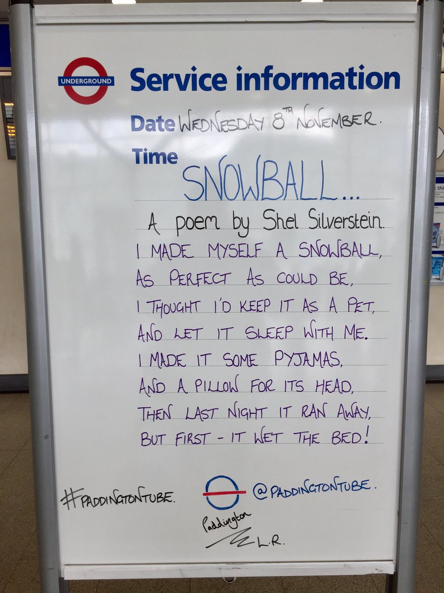 Michael Natusch On Twitter Love The Snowball Poem