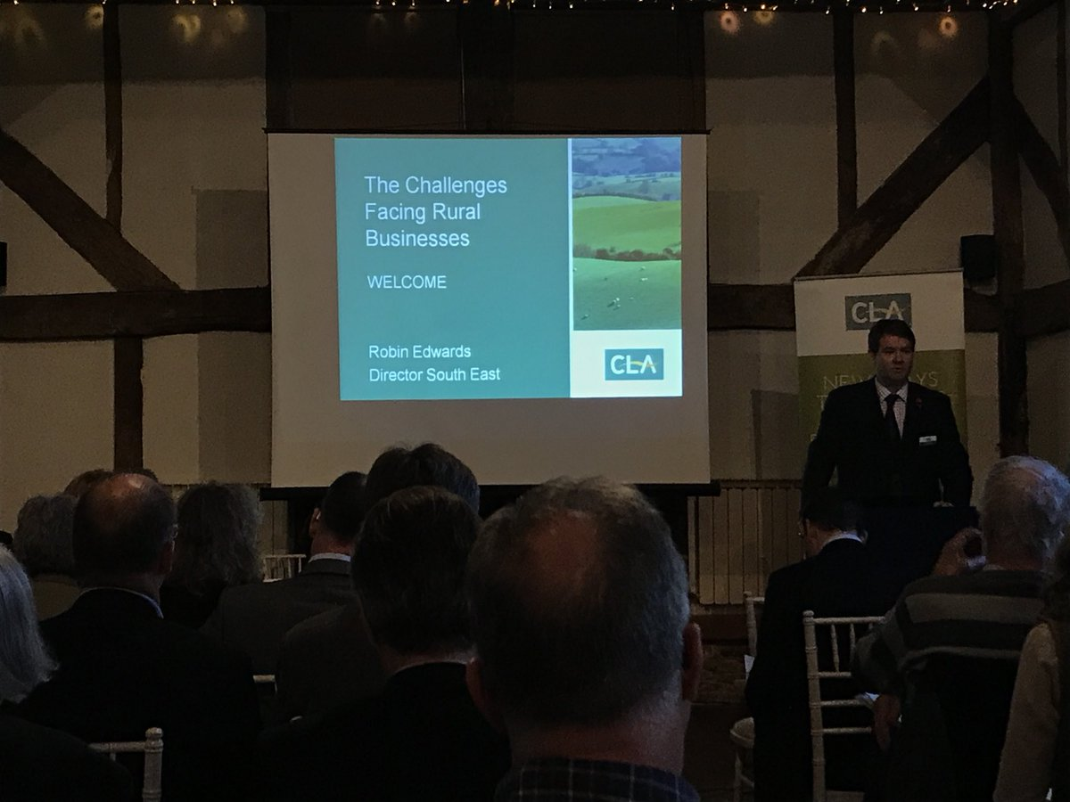 RT @vicmread @CLASouthEast @robinedwardscla welcomes guests to event @LoseleyPark with @SmithWilliamson #challenges facing #ruralbusiness