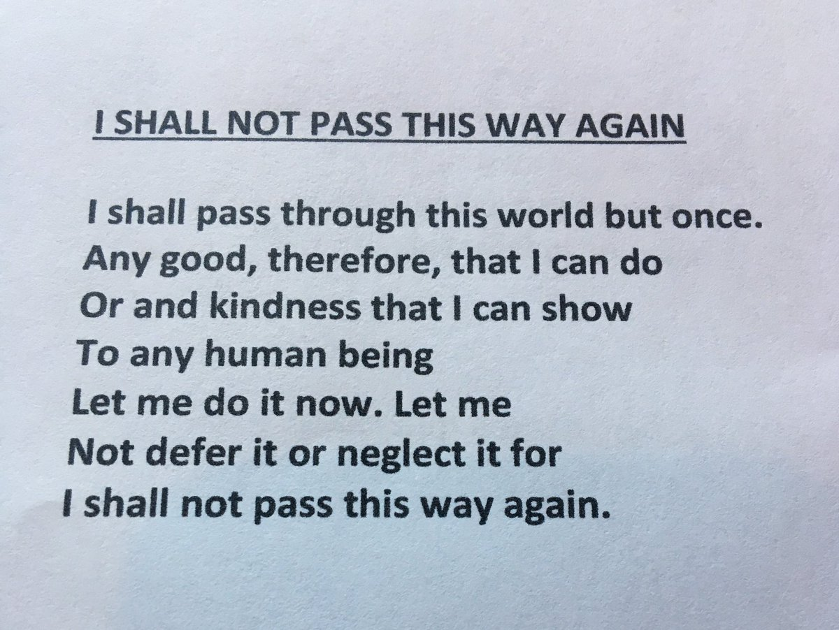i shall not pass this way again poem