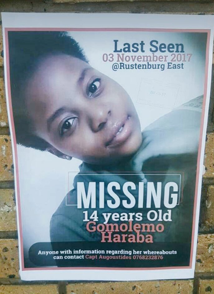 Guys please help!!! She was last seen on Friday. Here in Rustenburg
