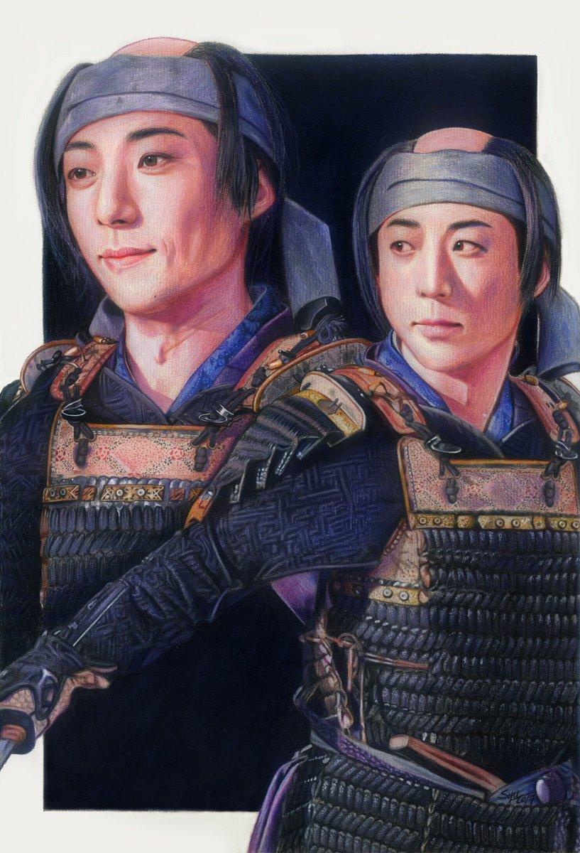 Issey Takahashi/colorpencils/watercolor/27×39cm #pencil #sketch #drawing #Art #illustration #高橋一生 #おんな城主直虎 #直虎 #小野政次 #虎絵 #NHK #大河ドラマ #Japan<br>http://pic.twitter.com/hvZmf0T4qK