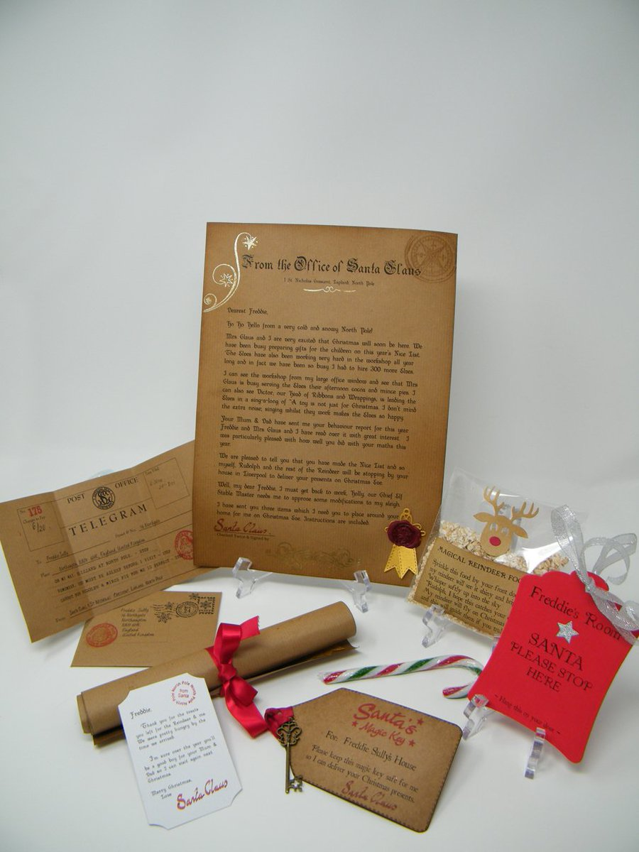 Hiddenfootprints on twitter christmas eve bundle personalised hiddenfootprints on twitter christmas eve bundle personalised letter from santa telegram magical key reindeer food more httpstffntab3zjl spiritdancerdesigns Images