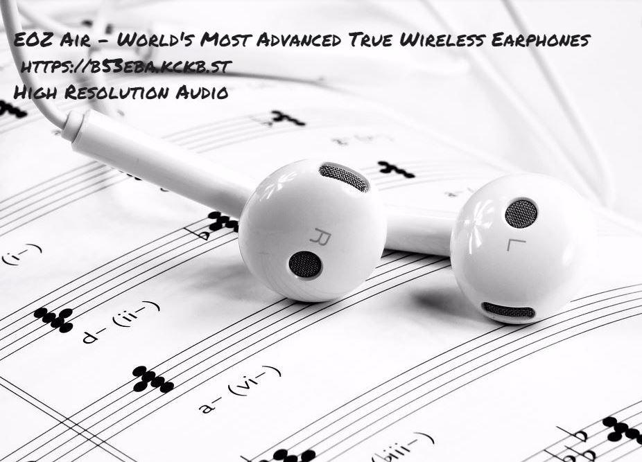 Introducing he EOZ AIR  The future of wireless earphones. See here  https:// b53eba.kckb.st  &nbsp;    #music #musiclovers High Resolution Audio! <br>http://pic.twitter.com/pVJxujHyvH